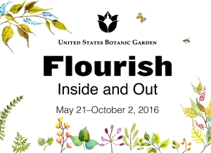 Flourish- Inside and Out exhibit logo - U.S. Botanic Garden